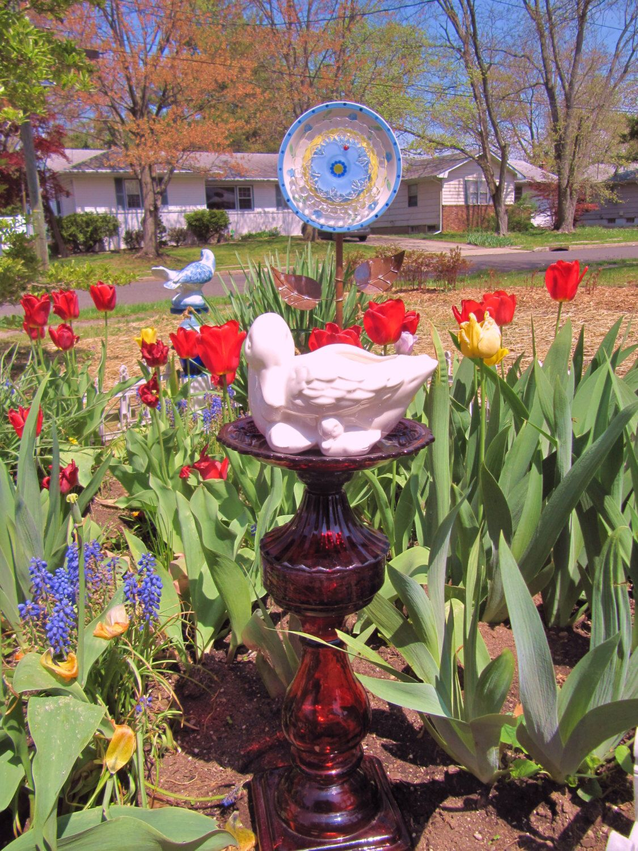 SALE!! reduced from 100.00 25% garden totem, Swan garden totem ...