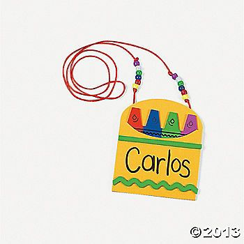 Back To School Name Tag Necklace Craft Kit Name Tag For School Back To School Crafts Back To School Necklaces Name necklace activity for kindergarten