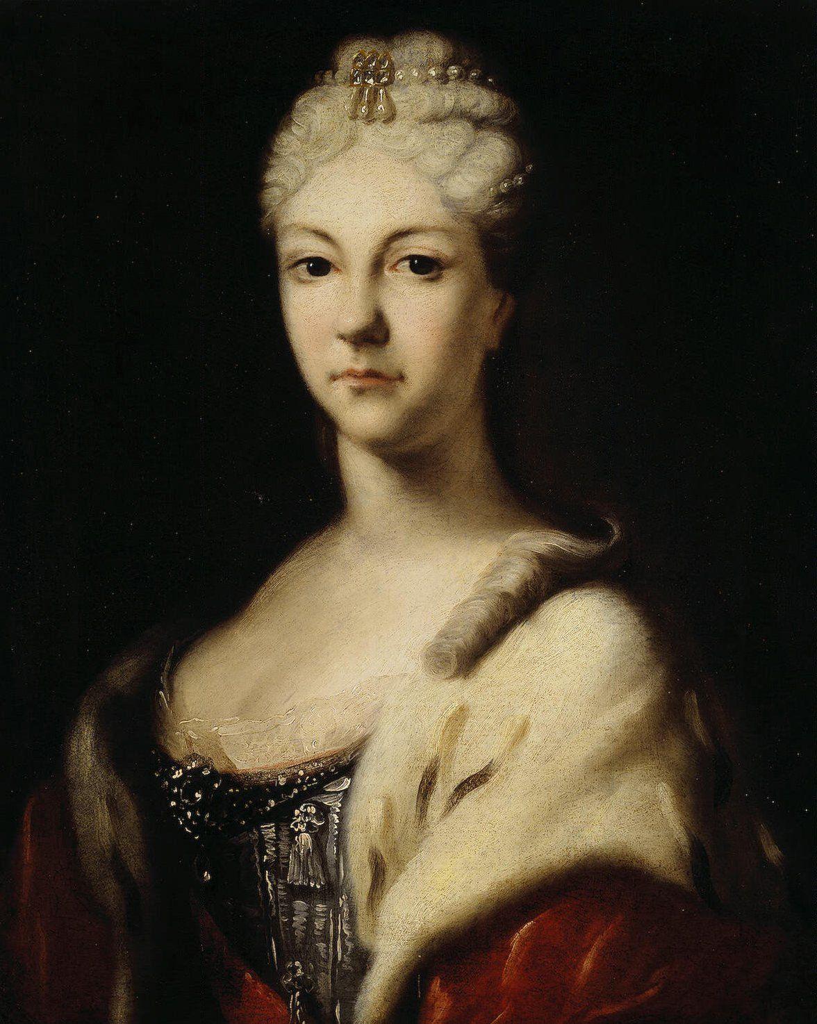 Portrait Of Tsarevna Natalia Alexeyevna Portrait Peter The Great Hermitage Museum