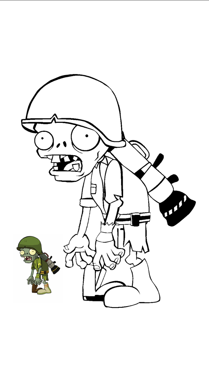 Plants Vs Zombies Super Mario Coloring Pages Plant Zombie Plants Vs Zombies
