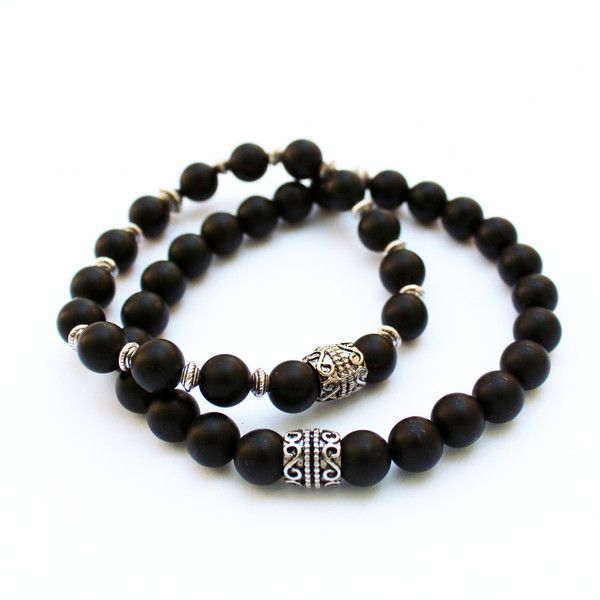 Mens Bracelets – Bracelet for him and her - black onyx  – a unique product by jollylapel on DaWanda