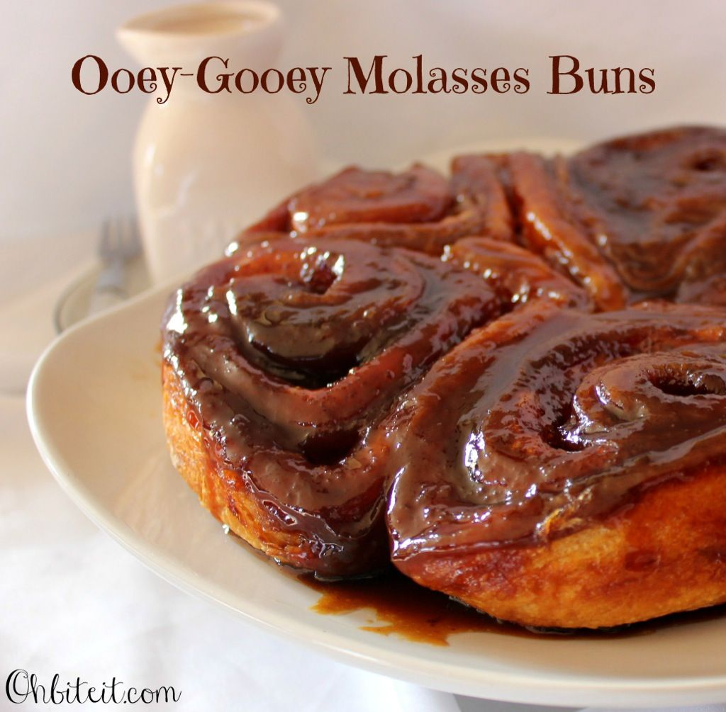 """Ooey-Gooey Molasses Buns from """"Oh, Bite It!"""" 