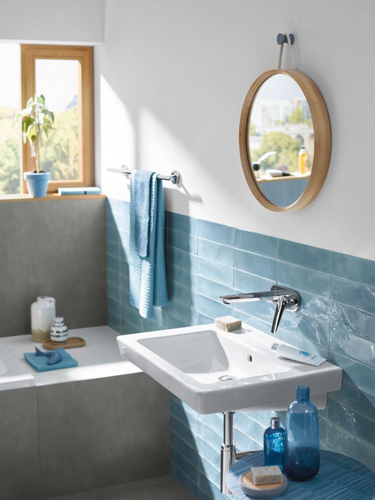Modern Bathroom Design Attractive Wall Mounting Mixer Frees Up The Wash Basin Hansgrohe Novus Modern Bathroom Bathroom Style Natural Bathroom