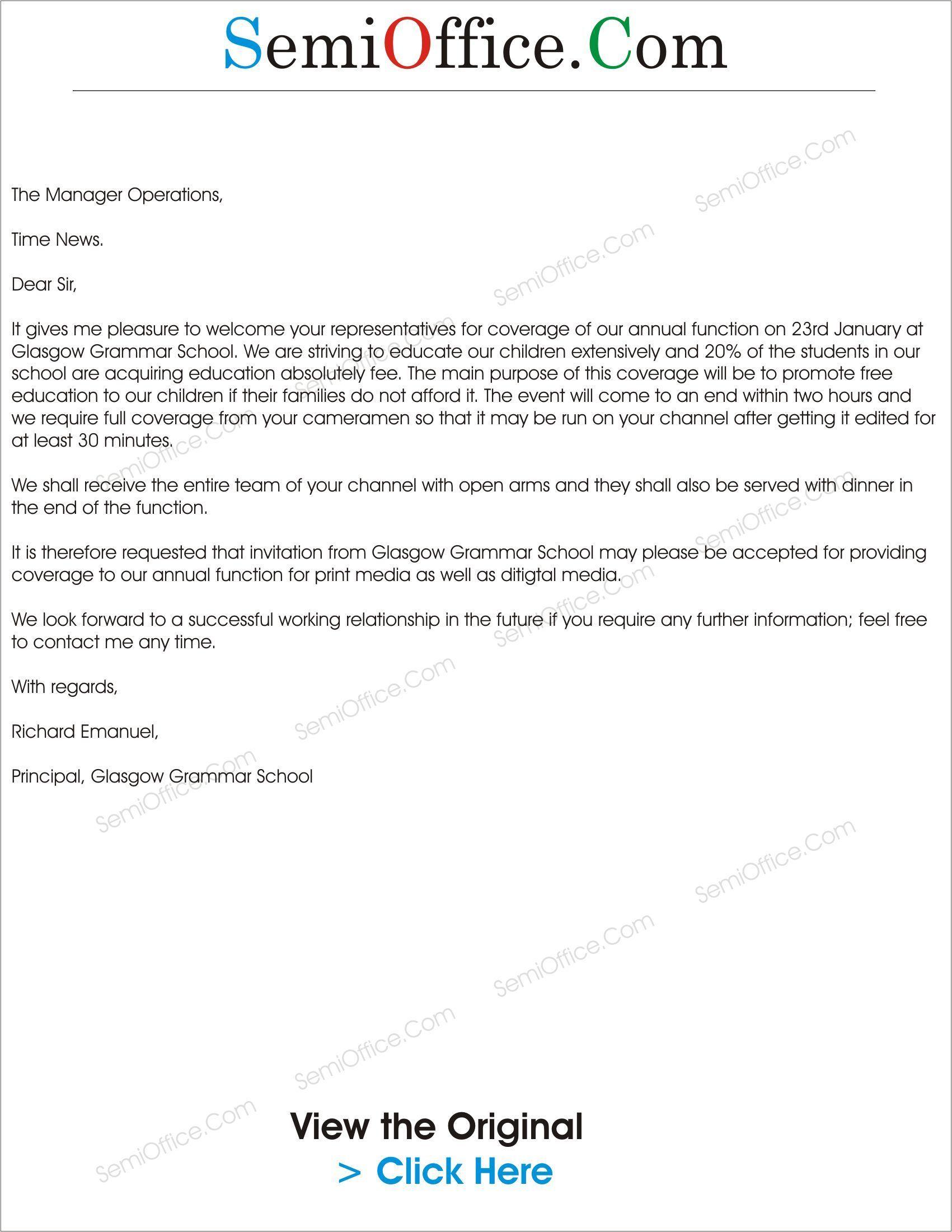 Contoh Formal Invitation Letter Graduation Ceremony – Cara Golden