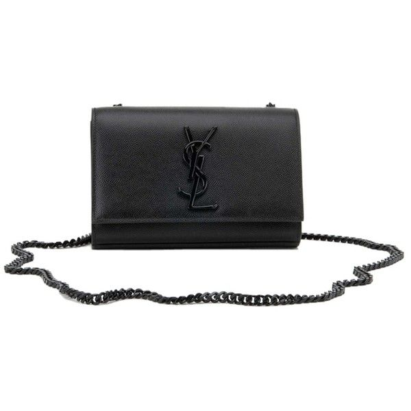 753eed253272f Pre-owned Saint Laurent Ysl Monogram Chain Wallet Clutch Black Cross ...