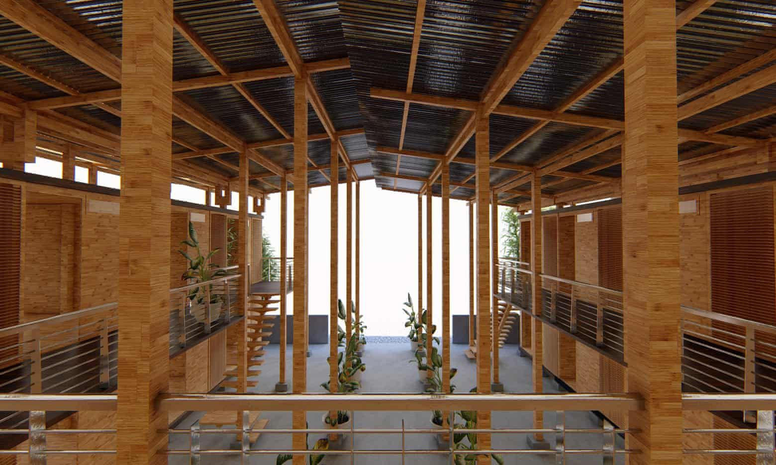 Bamboo house easy to build, sustainable Cubo wins top