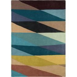 Photo of benuta Premium Wollteppich Aurora Multicolor / Blue 160×230 cm – Naturfaserteppich von Wollebenuta.de