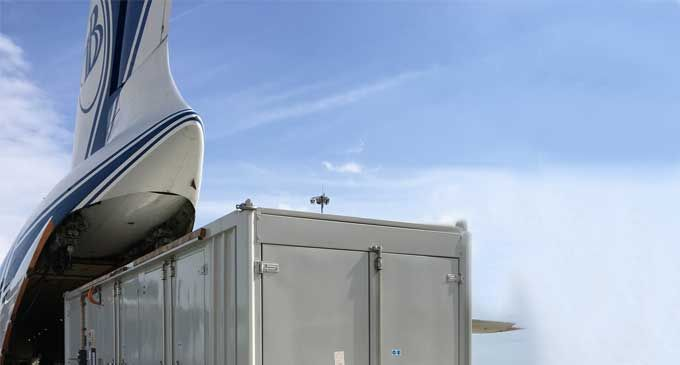 Volga-Dnepr transports two power generators to Nigeria with its new wing lift system