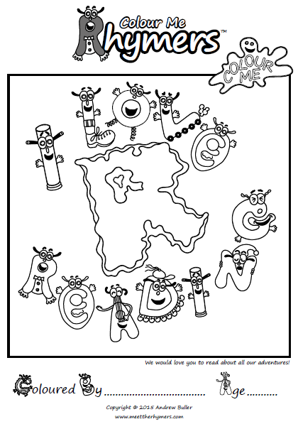 Free colouring pages available at www.meettherhymers.com