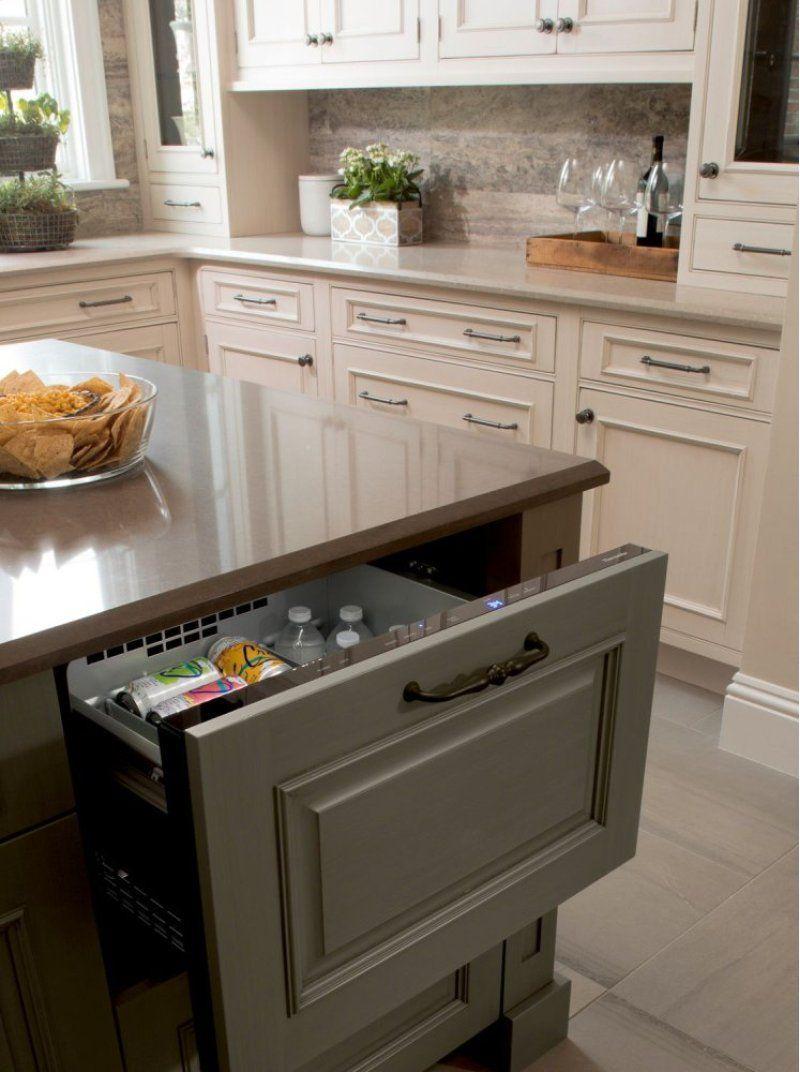 24 Inch Under Counter Double Drawer Refrigerator Freezer In 2020 Kitchen Remodel Kitchen New Kitchen Cabinets