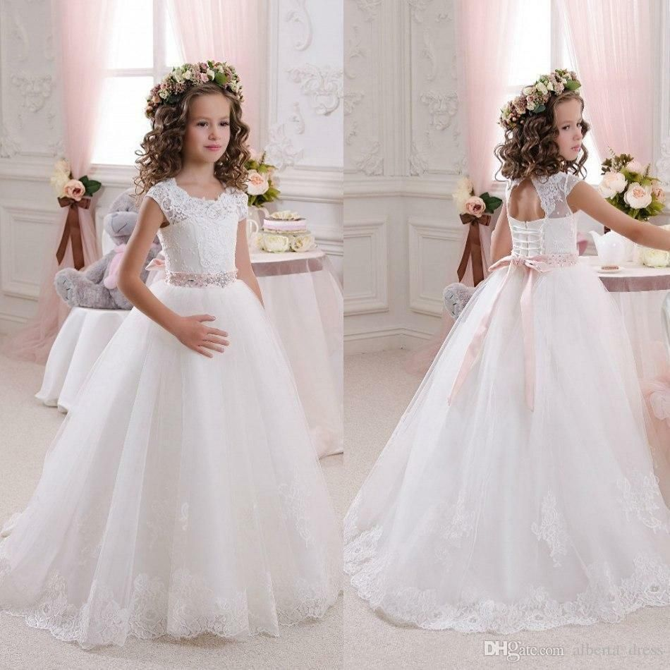 New Flower Girl Dress for wedding Pageant Party Communion Birthday kids/' dresses