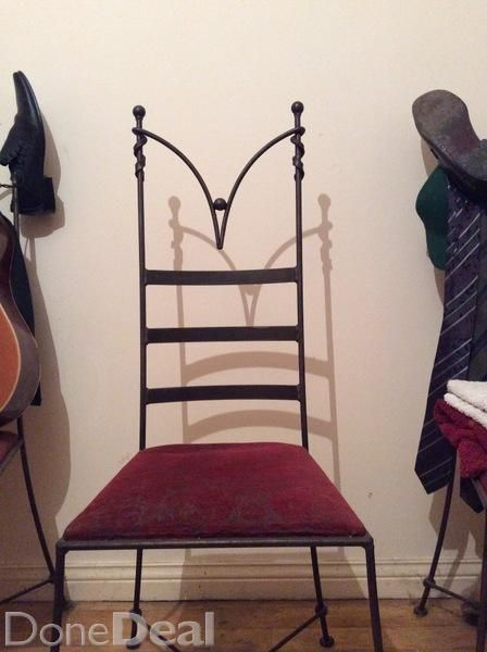 Hand Sculpted Gothic Style Dining Chairs For Sale In Galway On Dining Chairs Wrought Iron Chairs Wooden Dining Tables