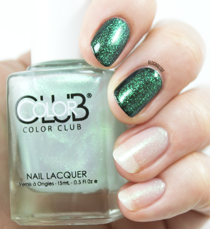 Color Club - Lady Liberty (shown here over bare nails and over black)