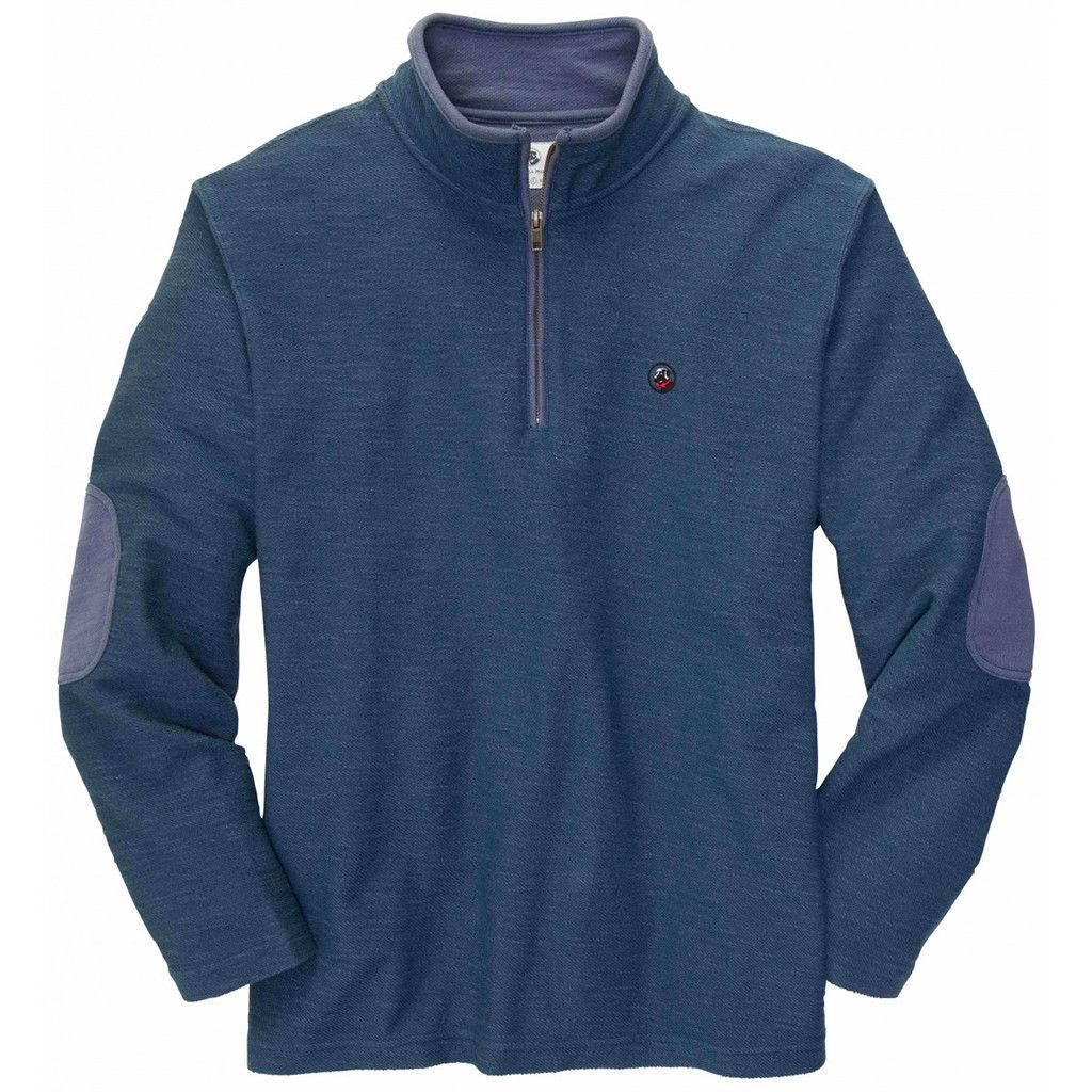 Nelson quarter zip pullover in navy by southern proper final