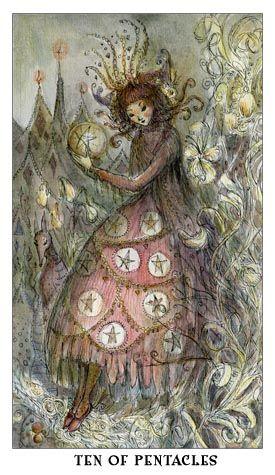 Ten of Pentacles from the Paulina Tarot by Paulina Cassidy