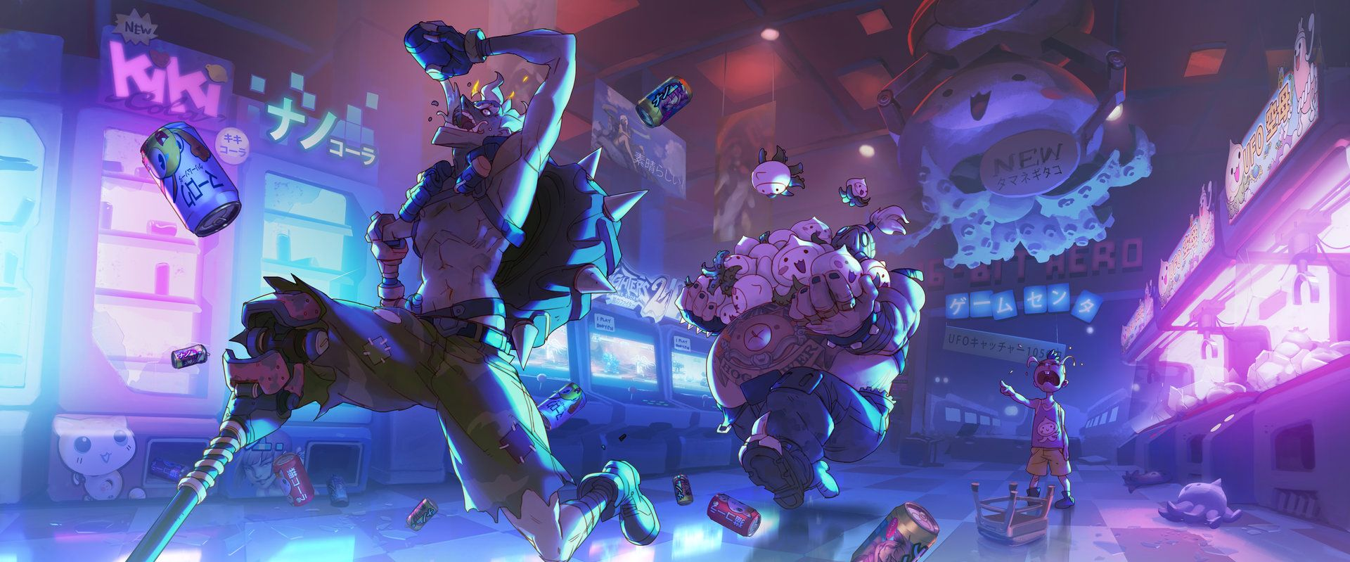 Overwatch A Moment In Crime Junkers Arnold Tsang Overwatch Wallpapers Overwatch Junkrat And Roadhog