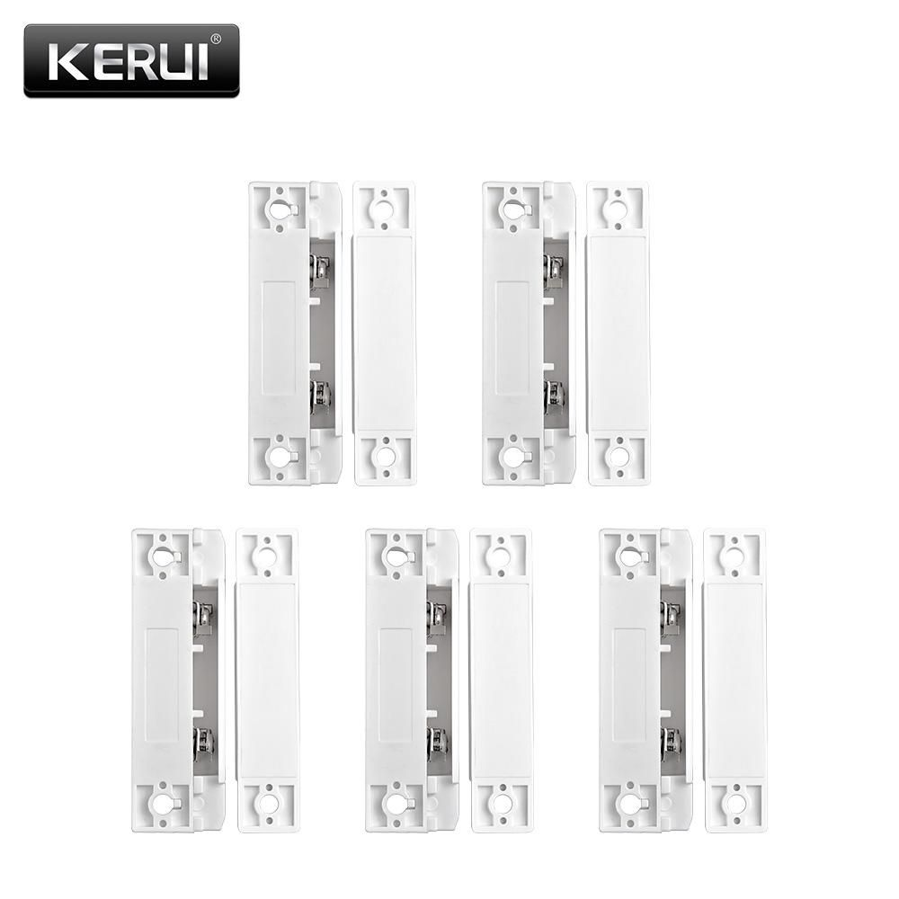 5pcs Lot Wired Door Window Magnetic Sensor Switch Work With Ptsn And Alarm Contact Wiring Series Gsm