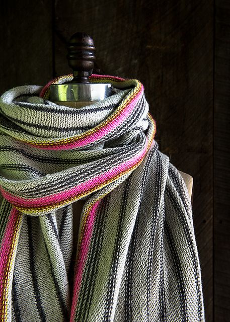 Ravelry: Ticking Stripe Wrap pattern by Purl Soho | Knitting ...