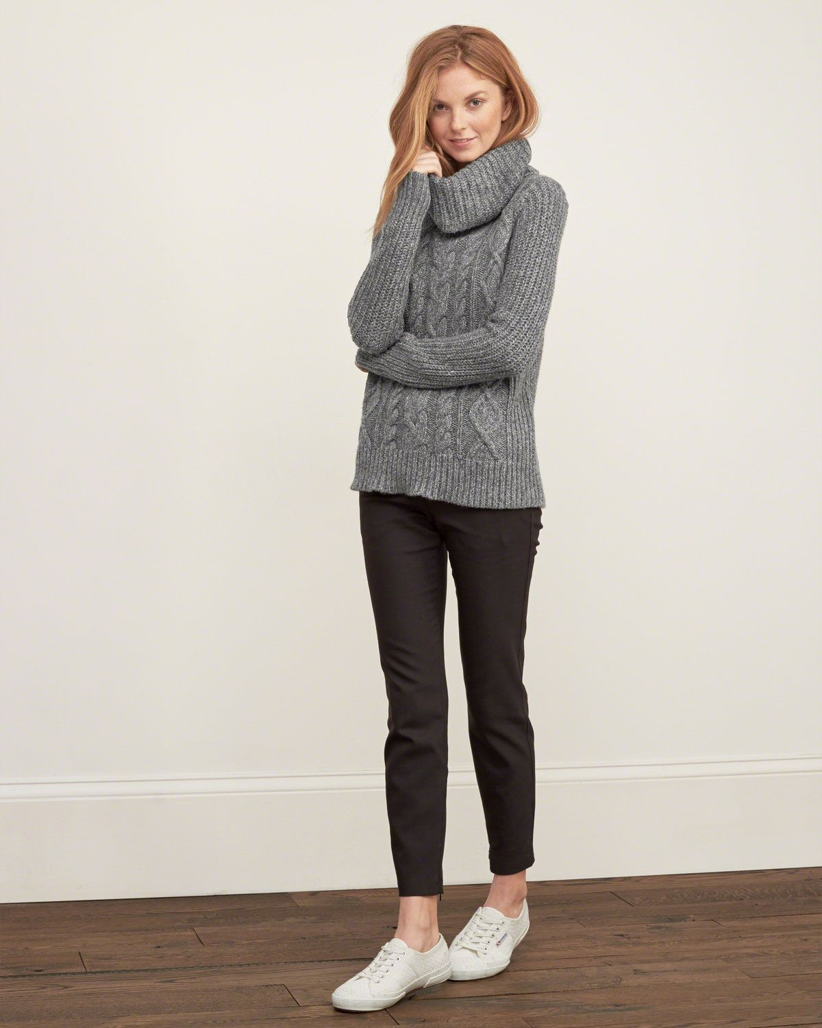 Womens Cable Turtleneck Sweater | Made with cozy and soft ...