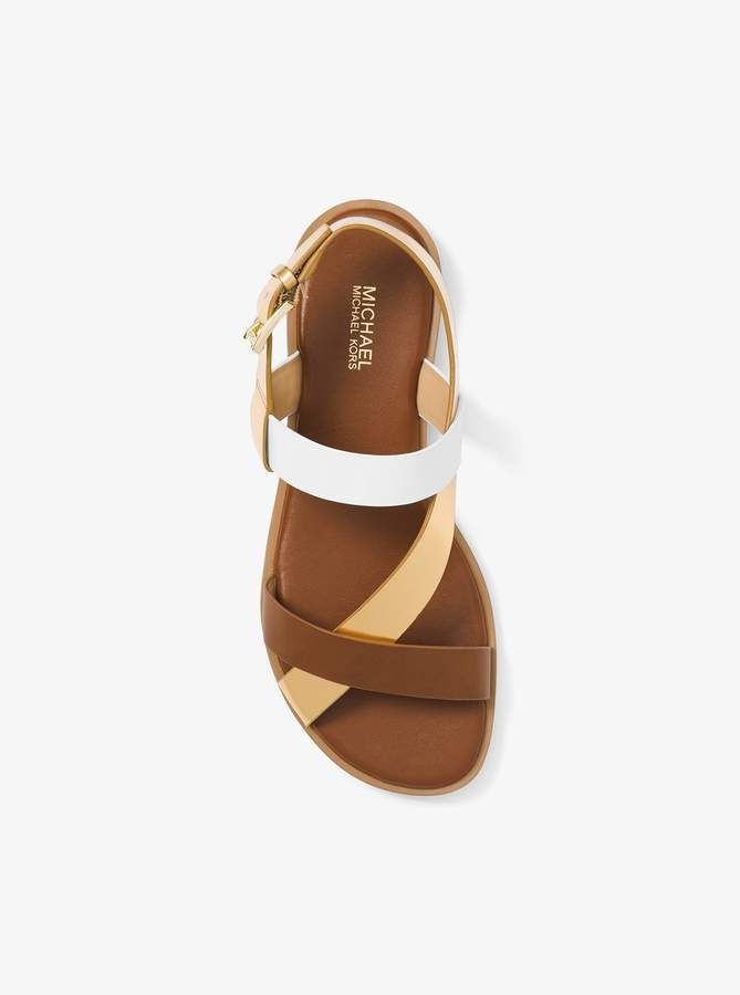 e6bd796656 MICHAEL Michael Kors Mackay Color-Block Leather Sandal | Products ...