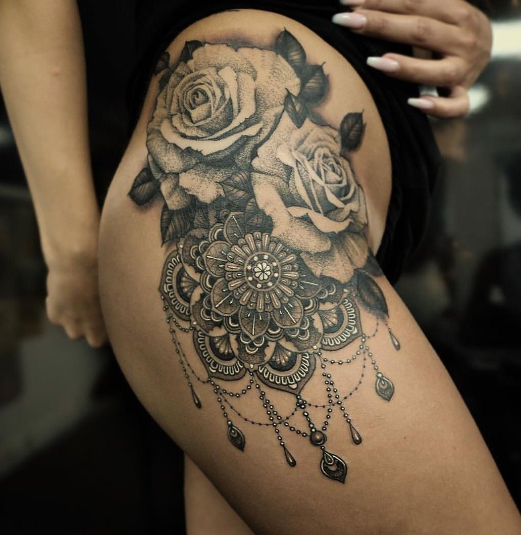 Rose Mandala Tattoo Tattoos Tatouage Tatouage Femme