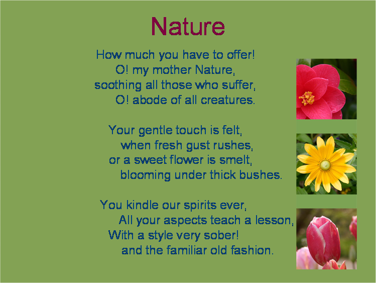 English Poetry For Clas 6 Saferbrowser Image Search Result Poem Nature Mother Essay 150 Word Grade 8 Introduction