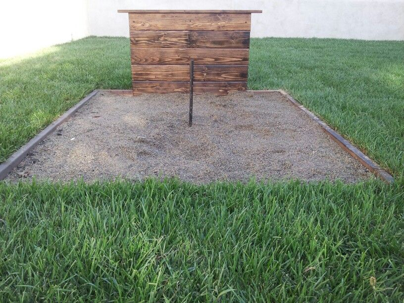 Horseshoe pit | Back Yard/Garden Ideas | Pinterest