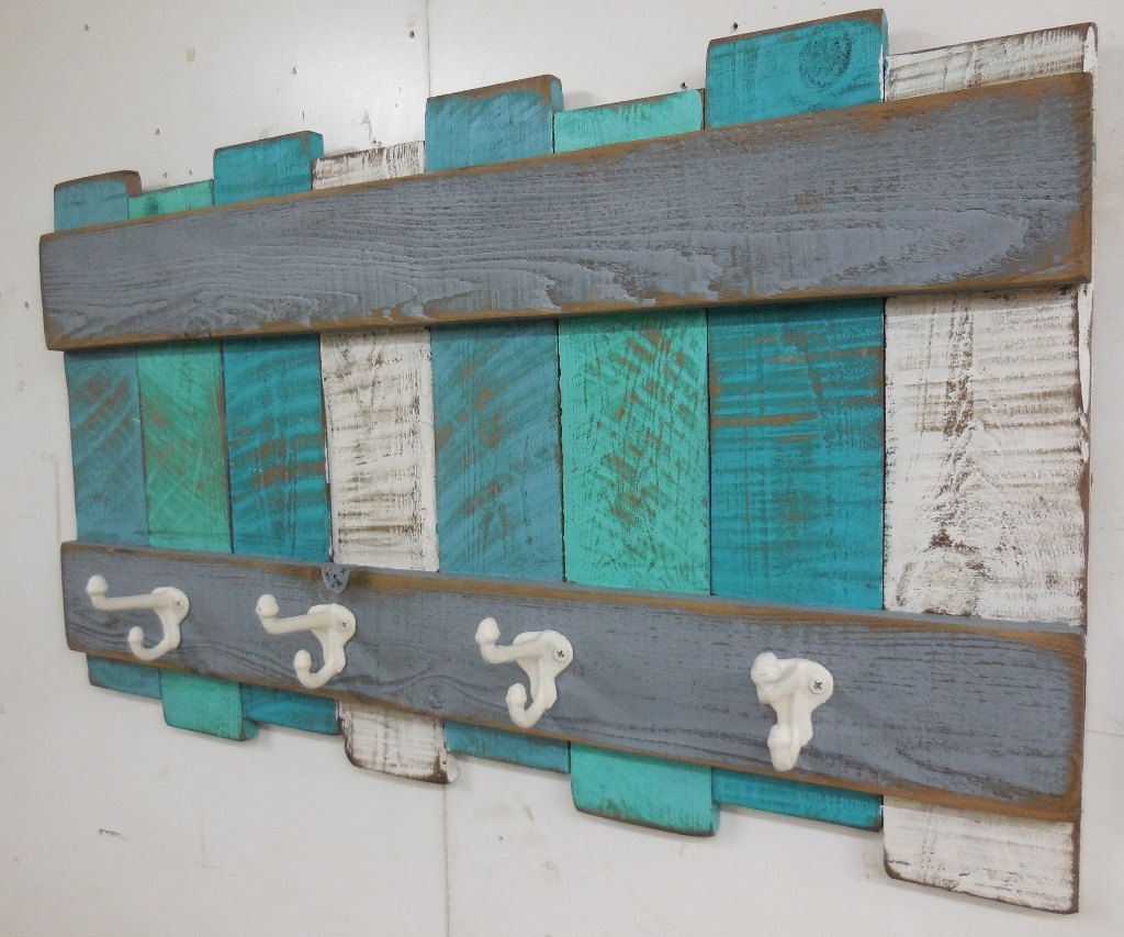 Nautical Coat Rack Rustic Coastal Coat Rackbeach Wall Etsy Beach Wall Decor Beach Wall Hanging Beach Themes
