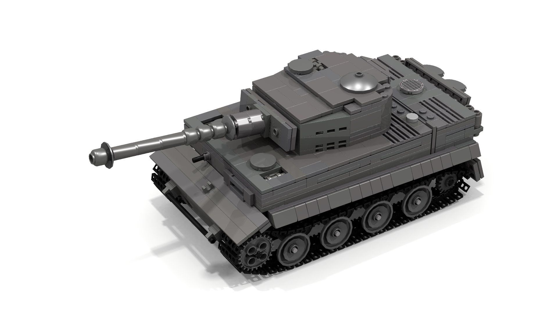 Lego WWII Tiger 1 Instructions (FULL INTERIOR) | Lego Tanks