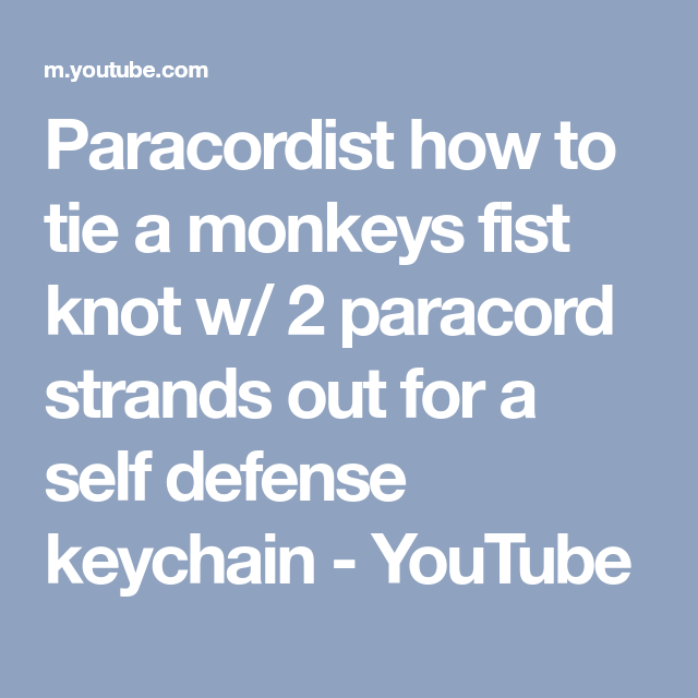 Schlüsselanhänger Paracord Lanyard Monkey Fist Selbstverteidigung Affenfaust