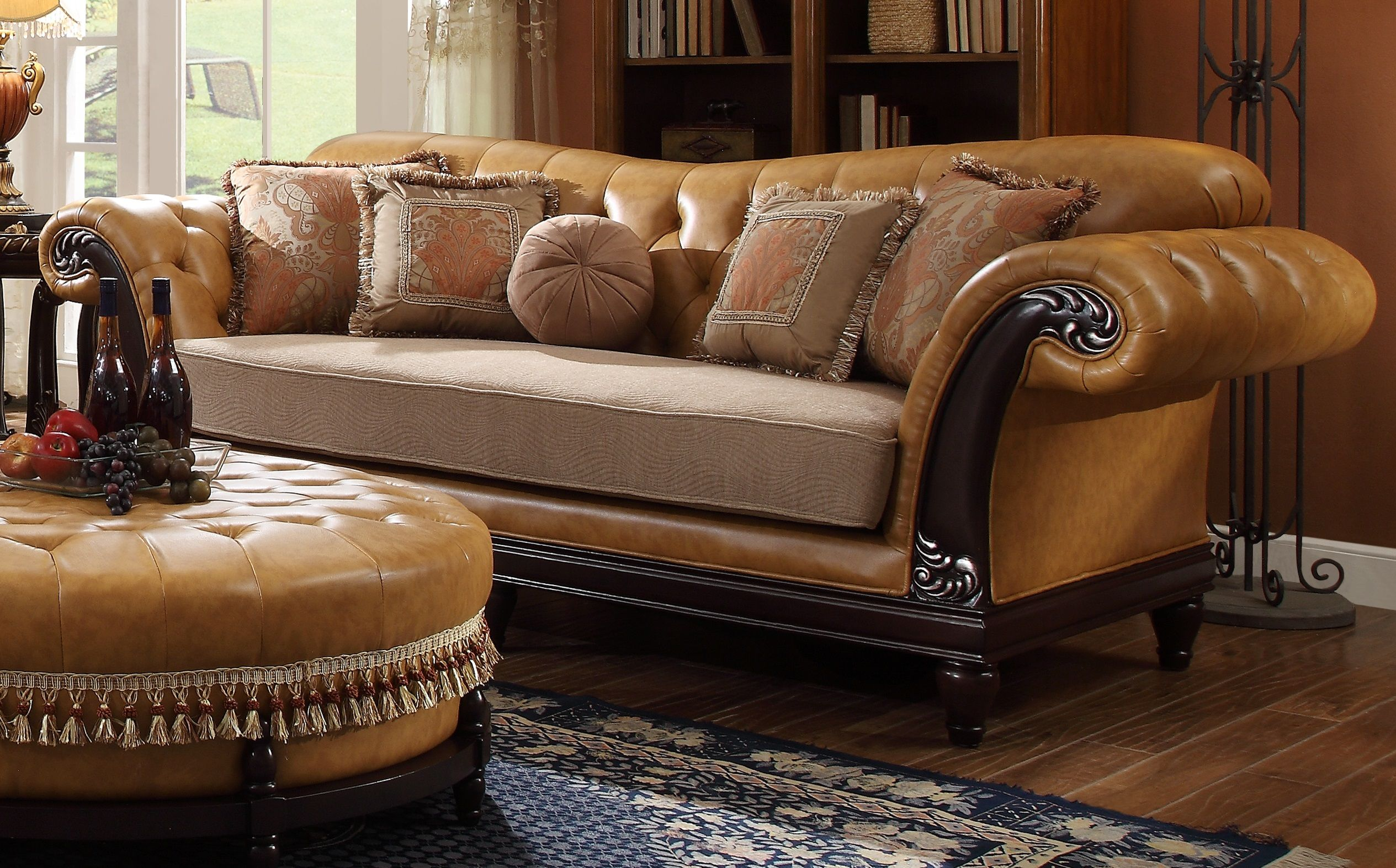 Leather Fabric Sofas Bonded Interior Designing