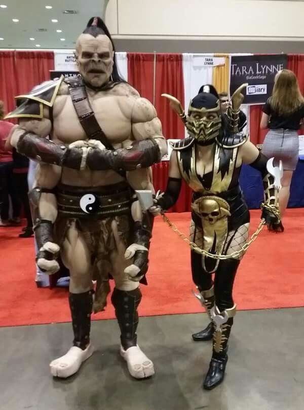 Goro And Scorpion Cosplay From Mortal Combat Mortal Kombat