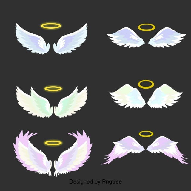 Hand Painted Cartoon Simple Angel Wings Element Simple Hand Painted Cartoon Png Transparent Clipart Image And Psd File For Free Download Halo Drawings Angel Wings Drawing Wings Drawing