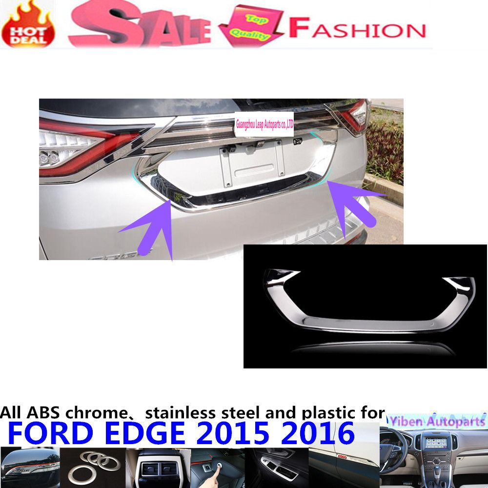 High quality rear back bumper trim car styling protection abs chrome door tail gate license pedal