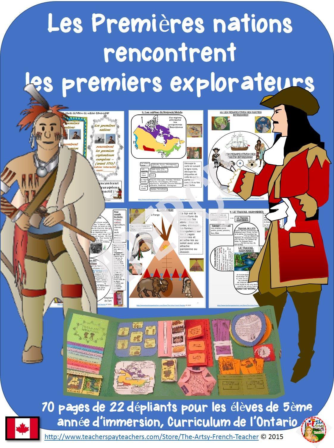 Les premières nations rencontrent les premiers explorateurs - cahier ...
