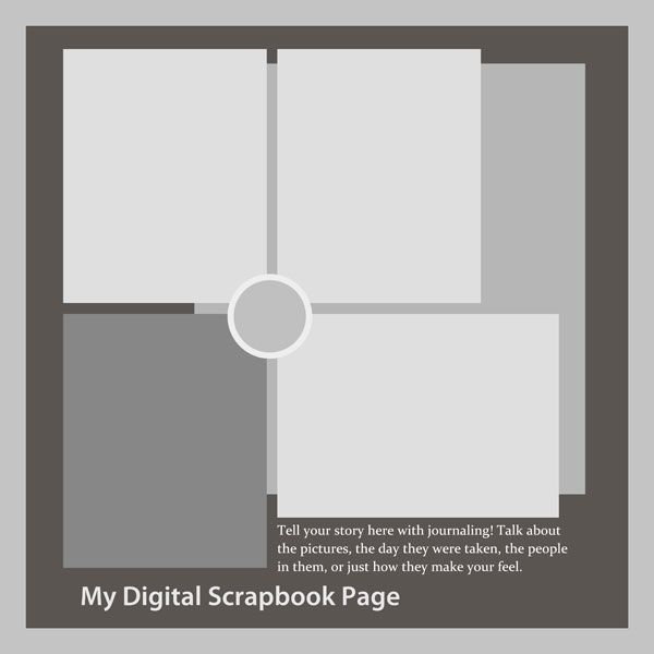 Scrapbook Layout Templates Four Photos To Create Your Digital