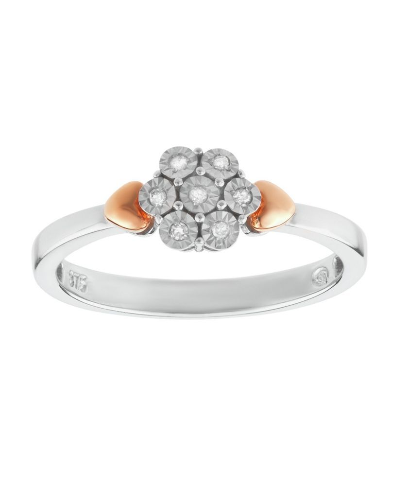 Tia Mia Sterling Silver 9ct Rg Plated 0 35ct Tw Flower Ring At Argos Co Uk Your Online For Dress Rings
