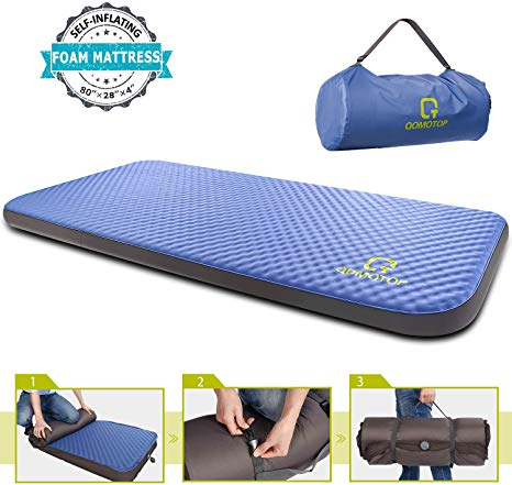 QOMOTOP Single SelfInflating Foam Mattress