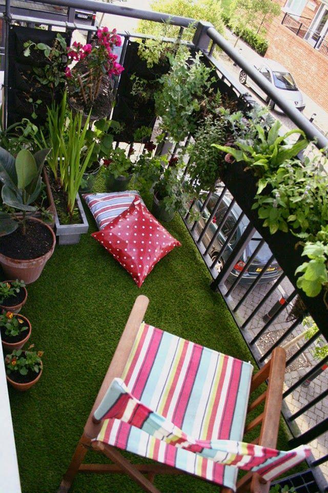pequeños balcones decorados - Buscar con Google | Balcon | Pinterest ...