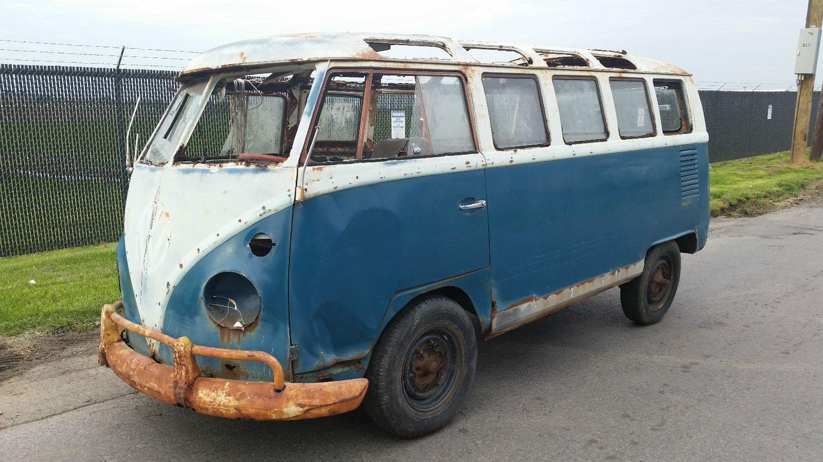 details about 1965 volkswagen bus vanagon 21 window samba. Black Bedroom Furniture Sets. Home Design Ideas