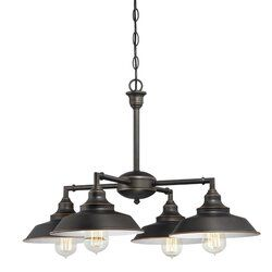 Alayna 4 Light Shaded Chandelier With Accents