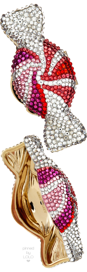 Judith Leiber Couture Swirled Candy Crystal Pillbox   LOLO❤︎