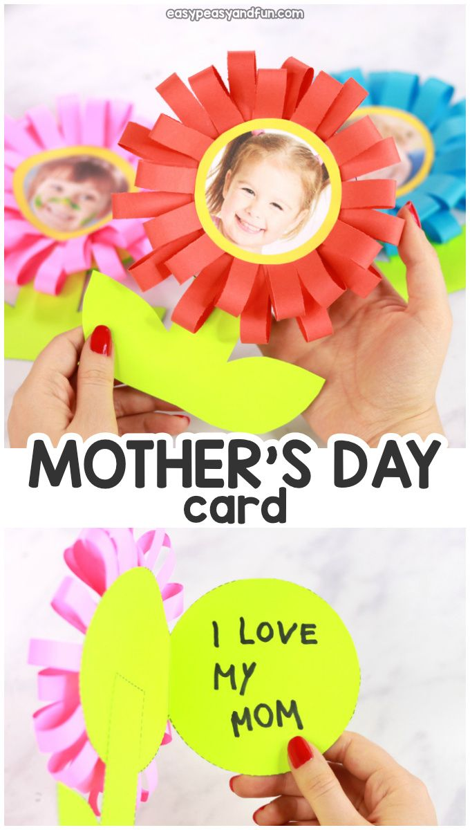 Flower Mothers Day Card   Mothers day crafts, Crafts for kids ...