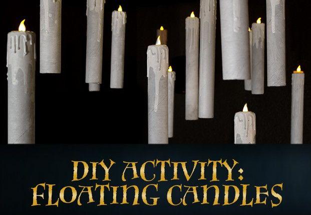 diy floating candles halloween pinterest harry potter geburtstag harry potter und harry. Black Bedroom Furniture Sets. Home Design Ideas
