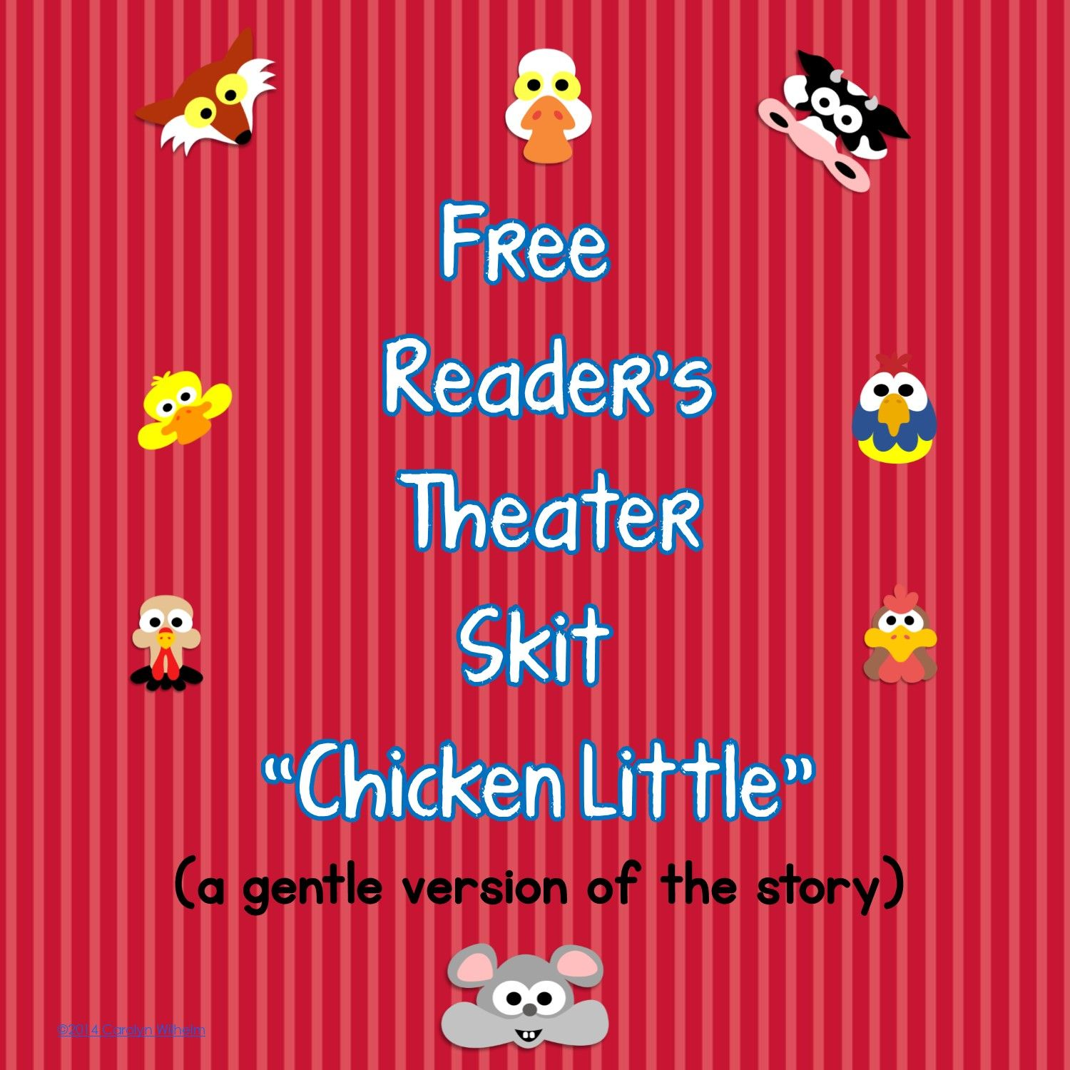 This Printable Chicken Little Reader S Theater Script Is A