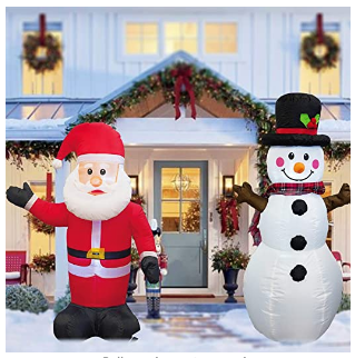 Inflatable Christmas decorations for outdoors