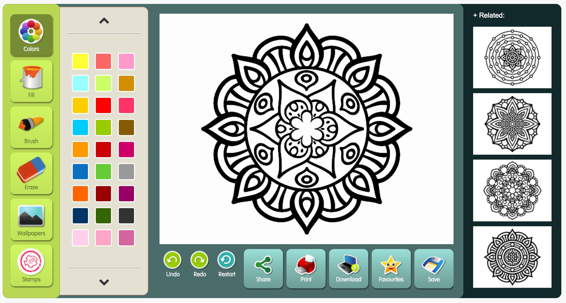 - Mandala Monday - Color Mandalas Online From Coloringcrew.com