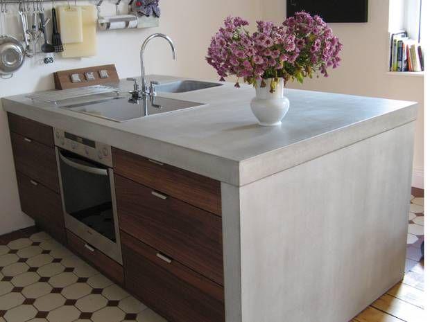 anleitung f r heimwerker arbeitsplatte einbauen betonarbeitsplatte arbeitsfl chen und stabil. Black Bedroom Furniture Sets. Home Design Ideas