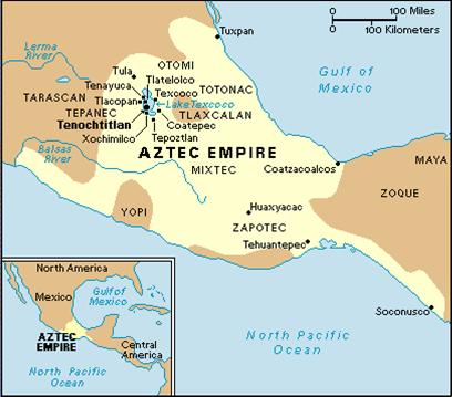 Aztec Civilization Map