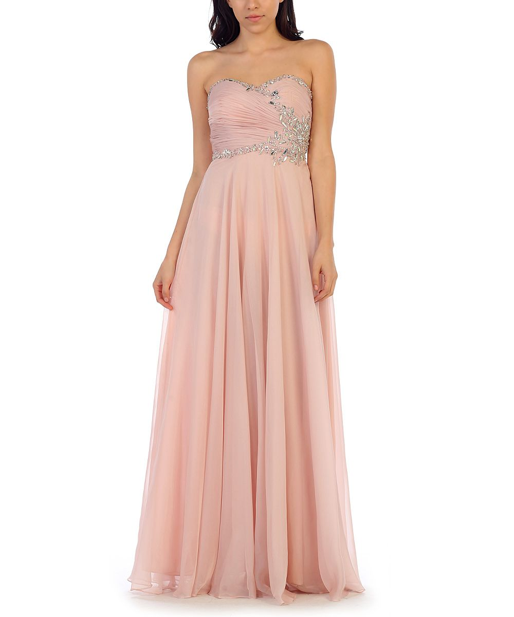 Blush Shimmer Sweetheart Gown